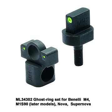 Meprolight Benelli Shotgun Night Sight, Ghost-ring Set