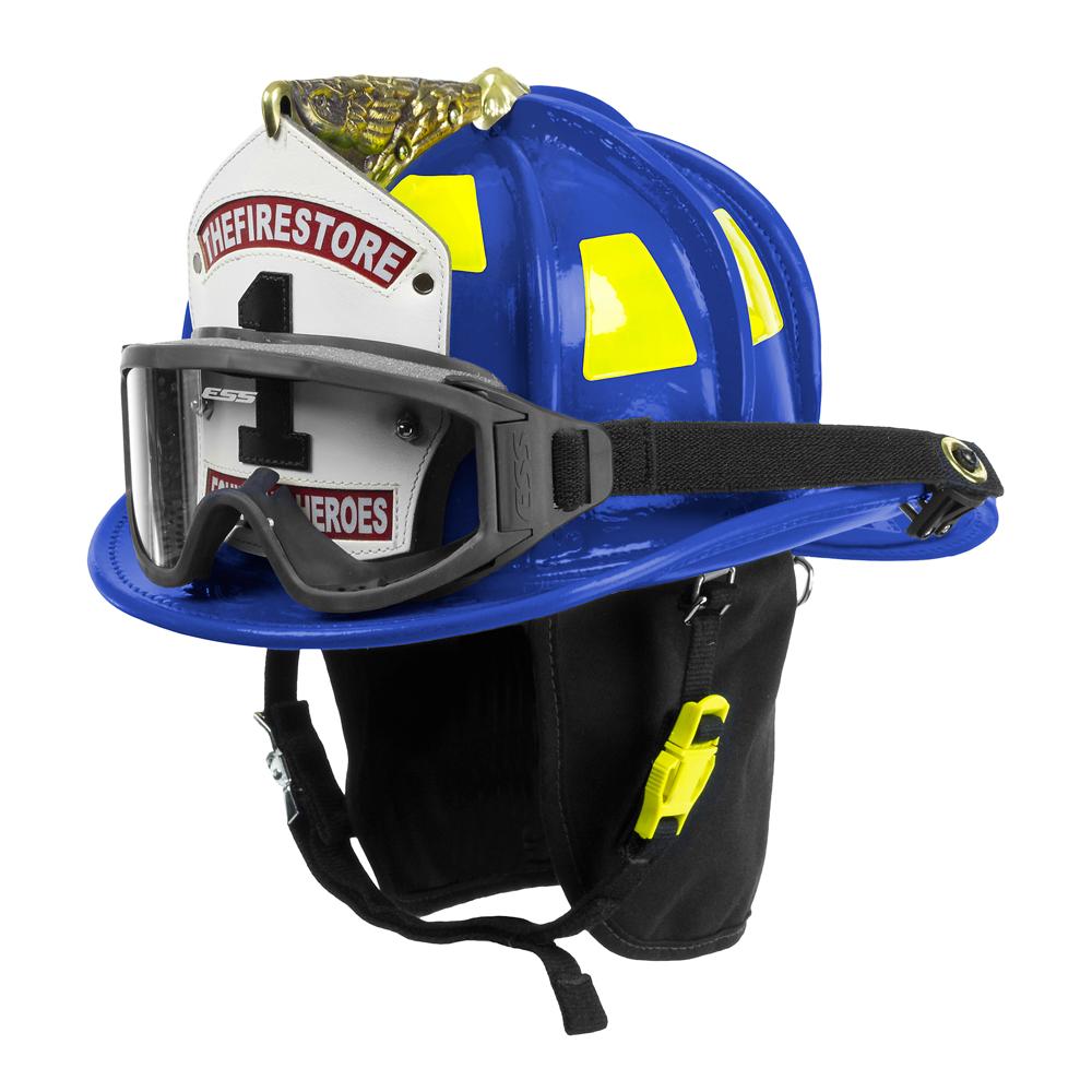 Cairns Blue N6A Houston Leather Fire Helmet