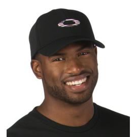 Oakley Tincan Cap, Black with American Flag