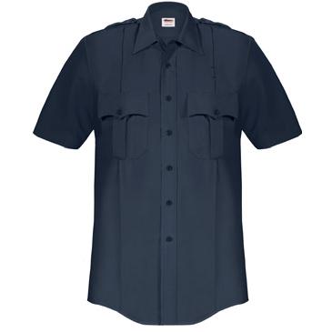 ELBECO Paragon Plus Men's S/S Poplin Dress Uniform Shirt