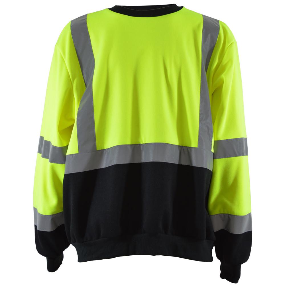 Petra Roc Hi-Viz Lime/Black Crew Neck Sweatshirt