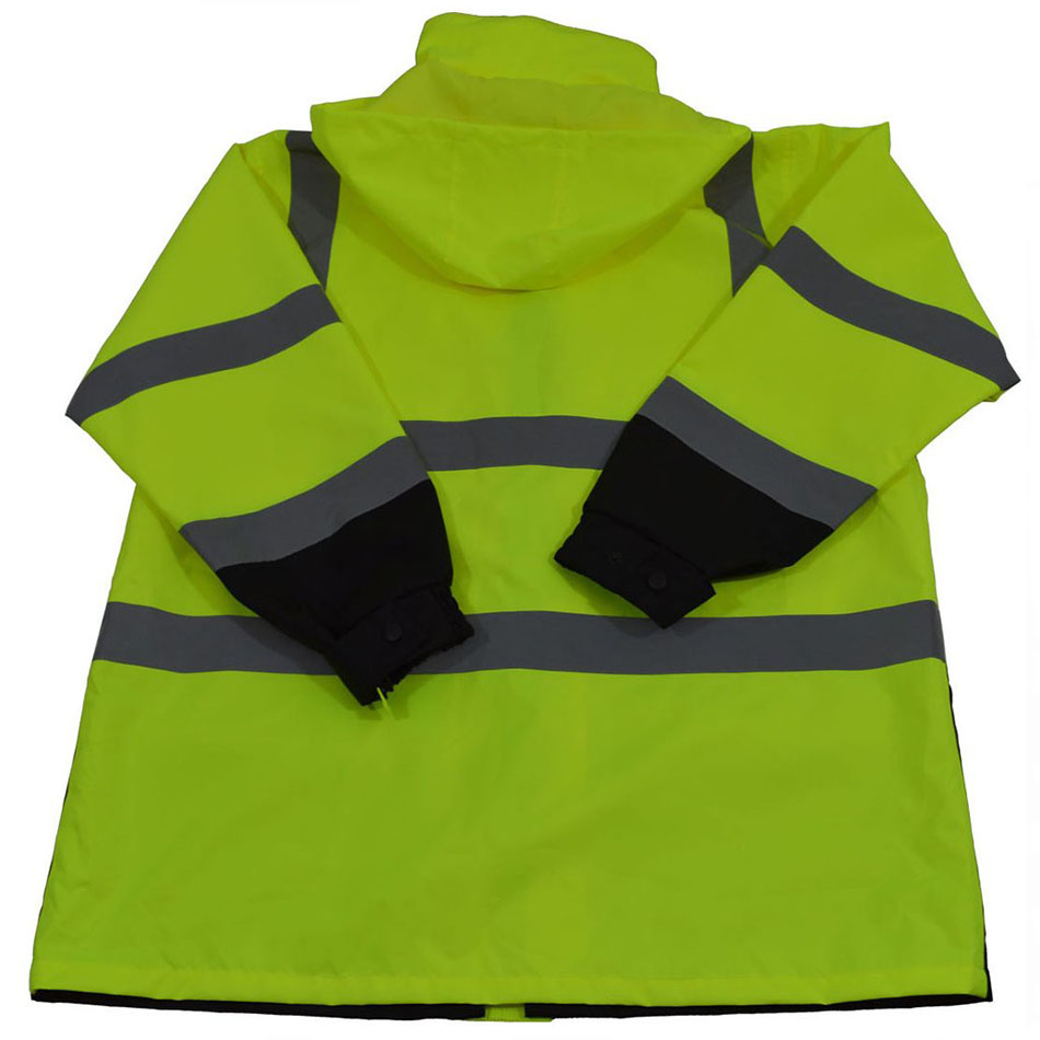 Petra Roc Lime/Black Waterproof 3-in-1 Rain Parka Jacket with Thermal Liner, ANSI/ISEA 107-2010 Class 3