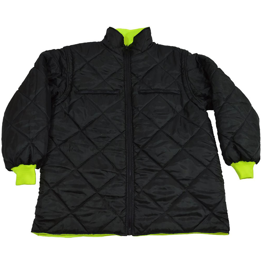 Petra Roc Lime/Black Waterproof 6-in-1 Jacket and Vest with Removable Hood, ANSI 107-2010 Class 3
