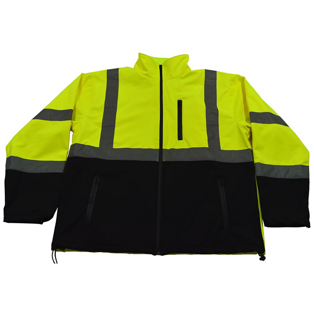 Petra Roc Lime/Black Water Resistant Soft Shell Jacket, ANSI 107-2015 Class 3