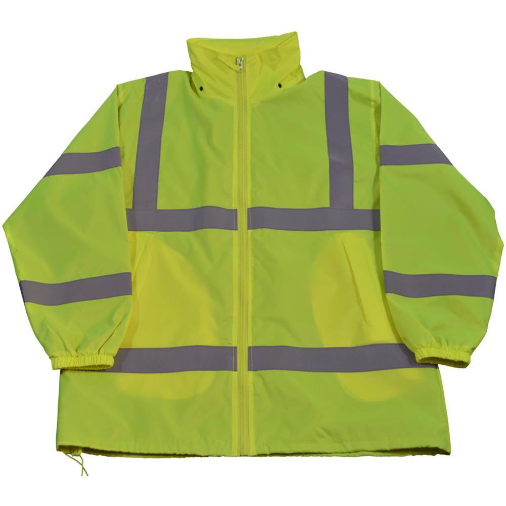 Petra Roc Hi-Viz Lime Windbreaker Jacket with Detachable Hood