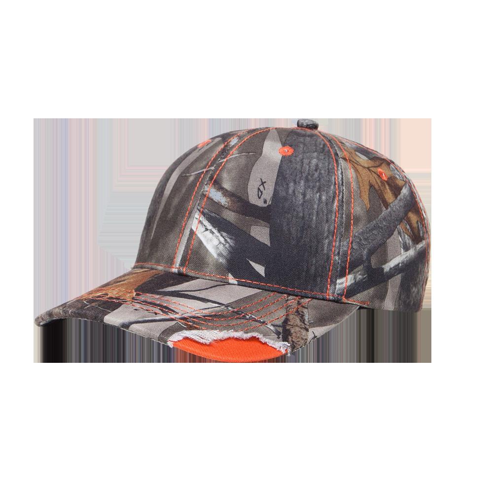 Pacific Headwear Distressed Camo Cap with Velcro Strap