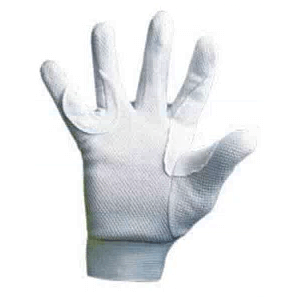 Premier Emblem White Gloves with Dotted Palms