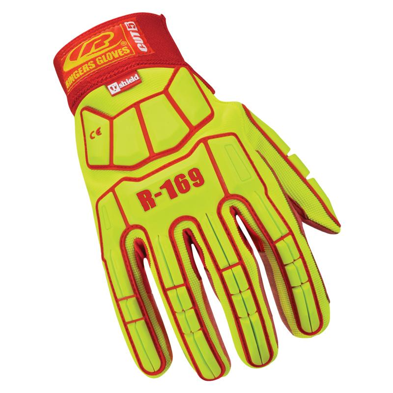 Ringers Cut5 Impact Compliant Hi-Vis Glove with Hook & Loop Cuff