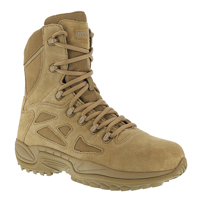 """Reebok AR670-1 Compliant Soft Toe Rapid Response Stealth 8"""" Boot, Coyote"""