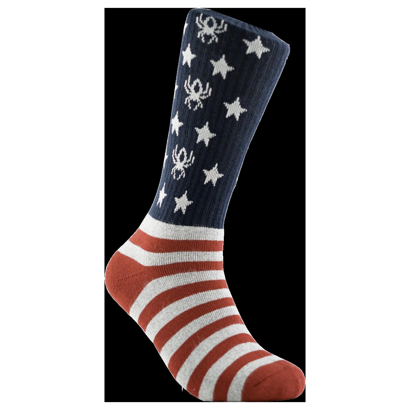 Redback Boots Bamboo Crew USA Flag Socks