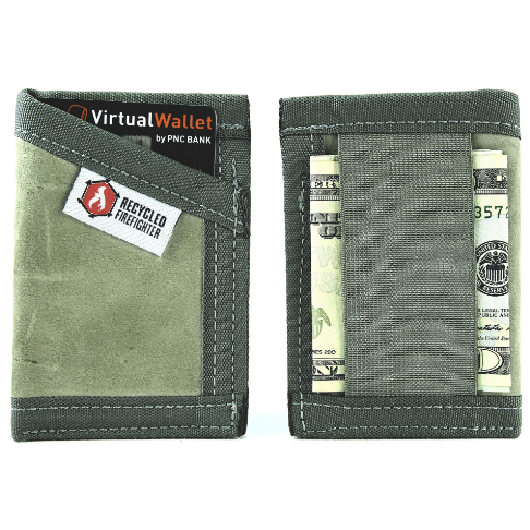 Recycled Firefighter The Combat Sergeant Front Pocket Wallet
