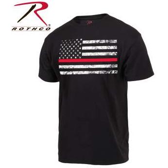 Rothco Thin Red Line Flag T-Shirt