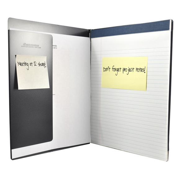 Saunders  Aluminum Padfolio w/ Writing Pad, Letter, 8.5 x 12