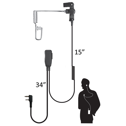 Code Red Sherlock Low-Profile Lapel Mic with Acoustic Earpiece