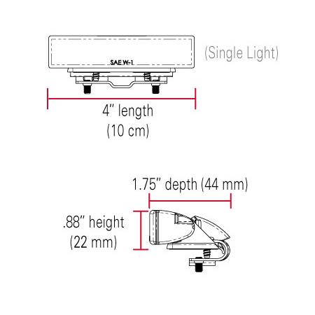 SoundOff Signal Ghost Multi-Mount Light or Surface Mount Light