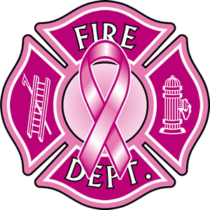 Exclusive Pink Maltese Cross Decal with Pink Ribbon