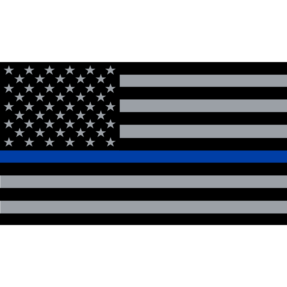 Exclusive Reflective Support Blue Line American Flag