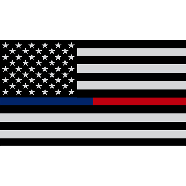 Exclusive American Flag with Thin Blue and Red Line Decal