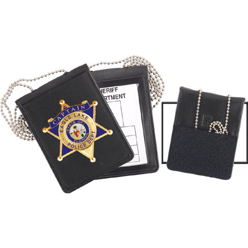 Strong Recessed VELCRO® brand Badge and ID Holder with Chain