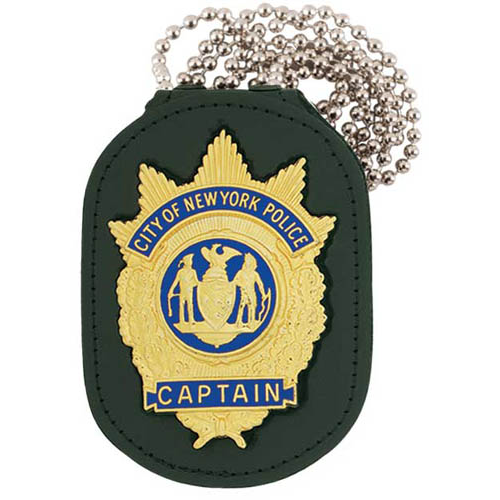 Strong Single Thick, Recessed Badge Holder with Chain