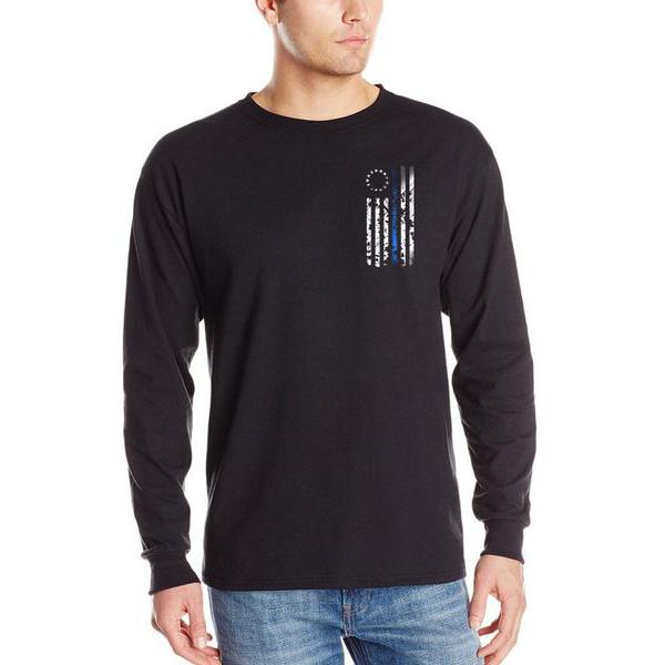 Thin Blue Line USA Long-Sleeve 1776 Thin Blue Line T-Shirt
