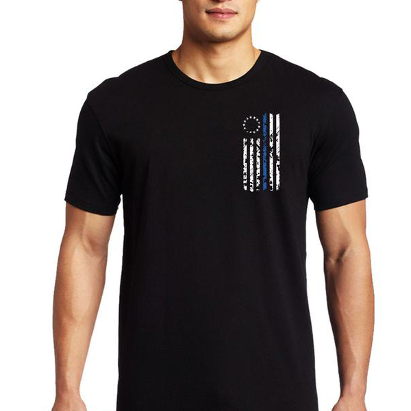 Thin Blue Line USA Short-Sleeve Thin Blue Line 1776 T-Shirt