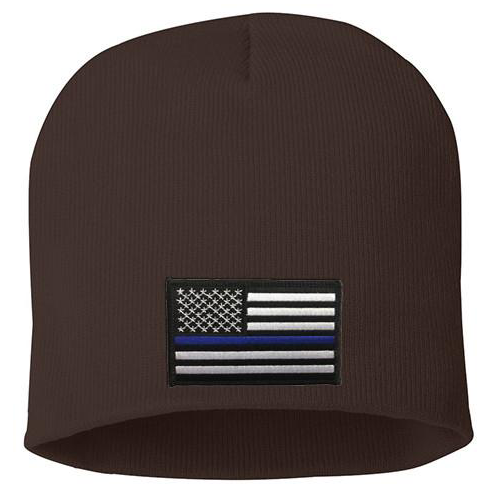 Thin Blue Line USA Embroidered Knit Cap