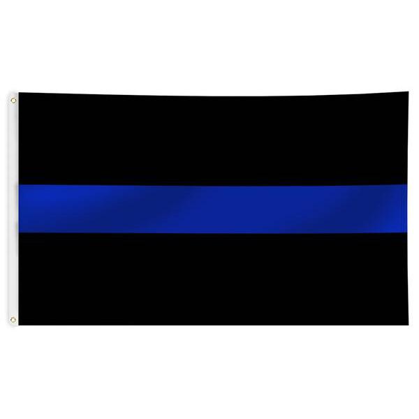 Thin Blue Line USA Thin Blue Line Black Flag