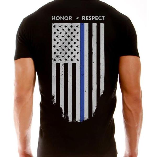 Thin Blue Line USA Thin Blue Line Flag Short-Sleeve T-Shirt
