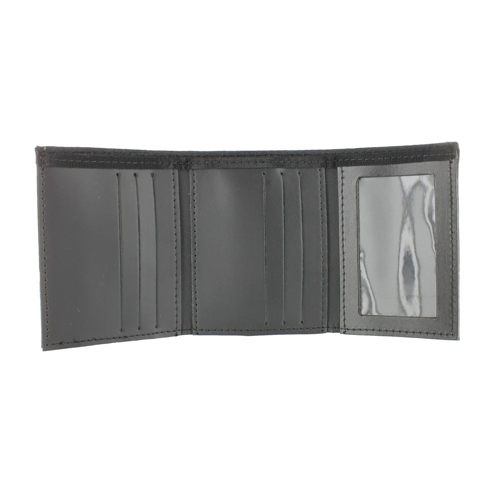Exclusive Bunker Gear Trifold Dress Wallet with Single ID Window, PBI Black Matrix, 2