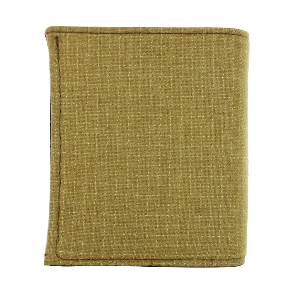 Bunker Gear Bi-Fold Wallet w/ Gold PBI and Orange Triple Trim