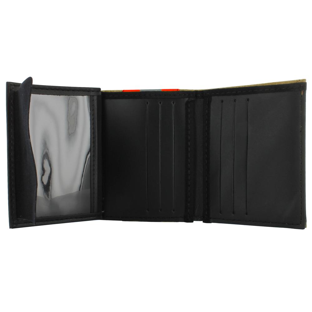 TheFireStore Exclusive Bunker Gear Wallet w/ Gold PBI and Orange Triple Trim
