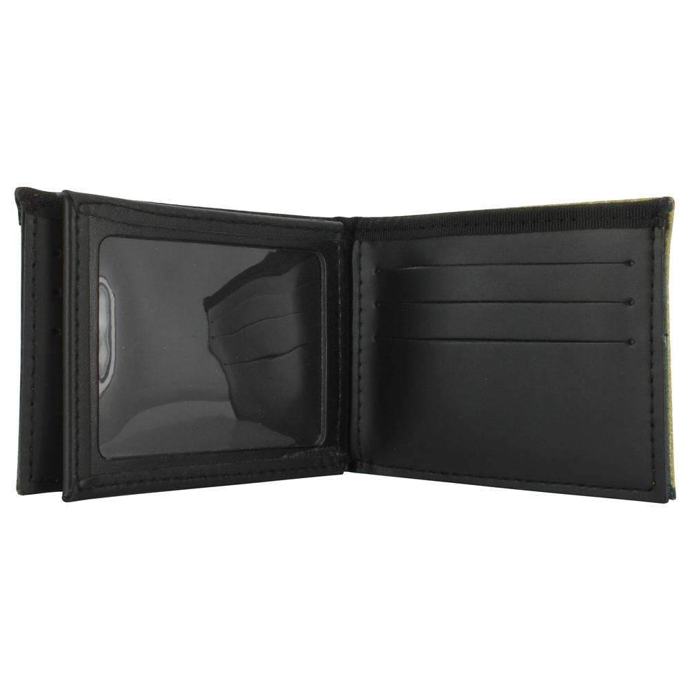 TheFireStore Exclusive Bunker Gear Bi-Fold Wallet w/ Gold PBI and Triple Trim