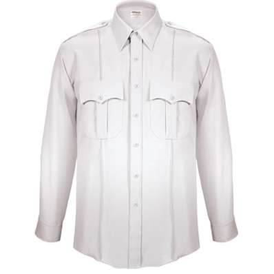 TexTrop Men's Stretch L/S Dress Uniform Shirt