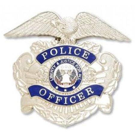 Smith & Warren Nickel Police Officer Hat Badge