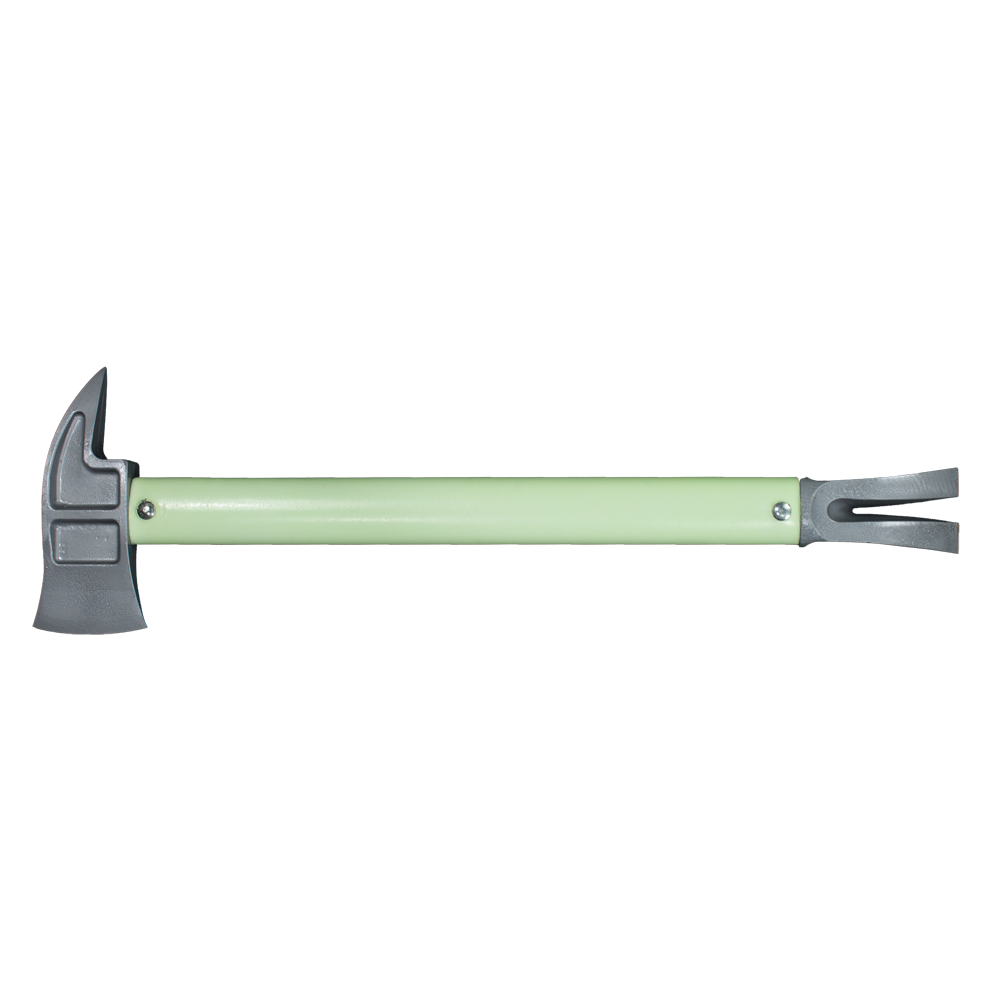 Zak Tool Mini Halligan & Mini Pry Axe Tactical Entry Tool, Silver, with Glow Handle