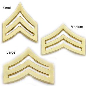 Smith & Warren Collar Pins, Sergeant Chevron, Pair