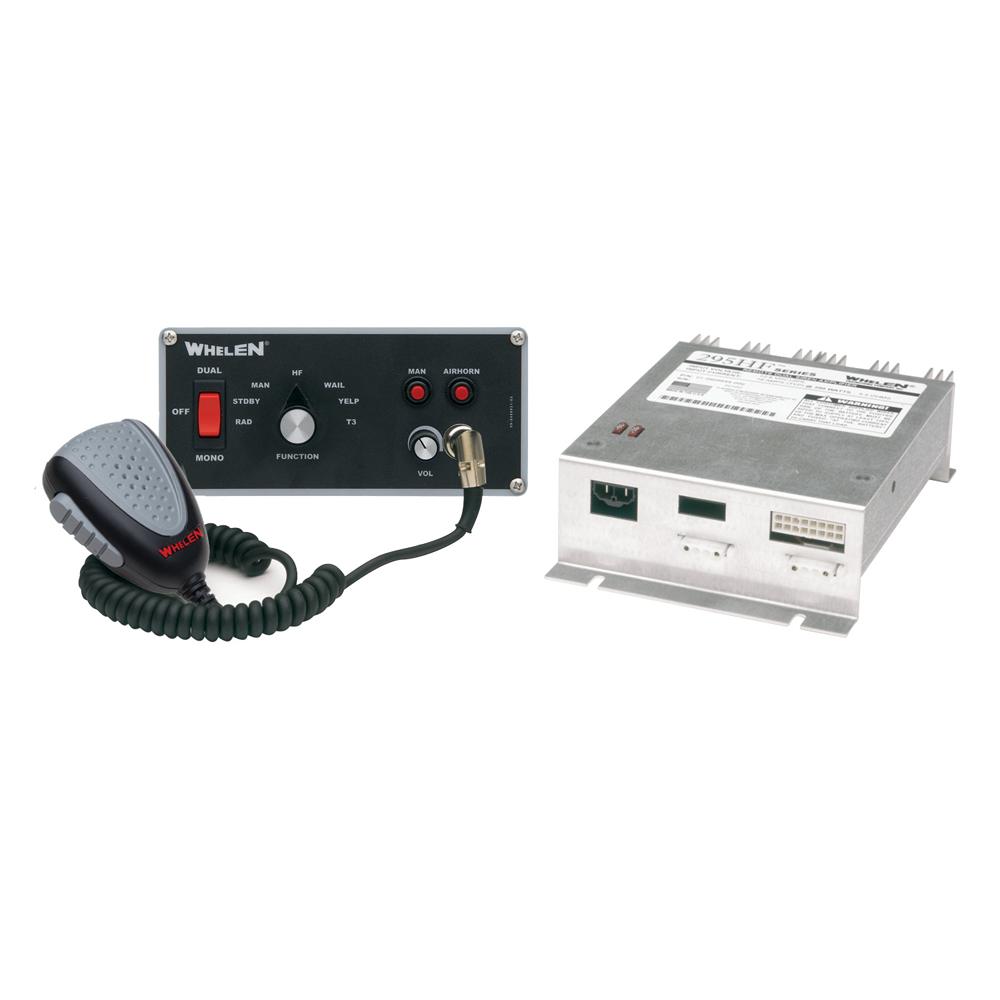 Whelen Hands Free Siren, Remote Dual Siren Amplifier with Flush Mount Control Head