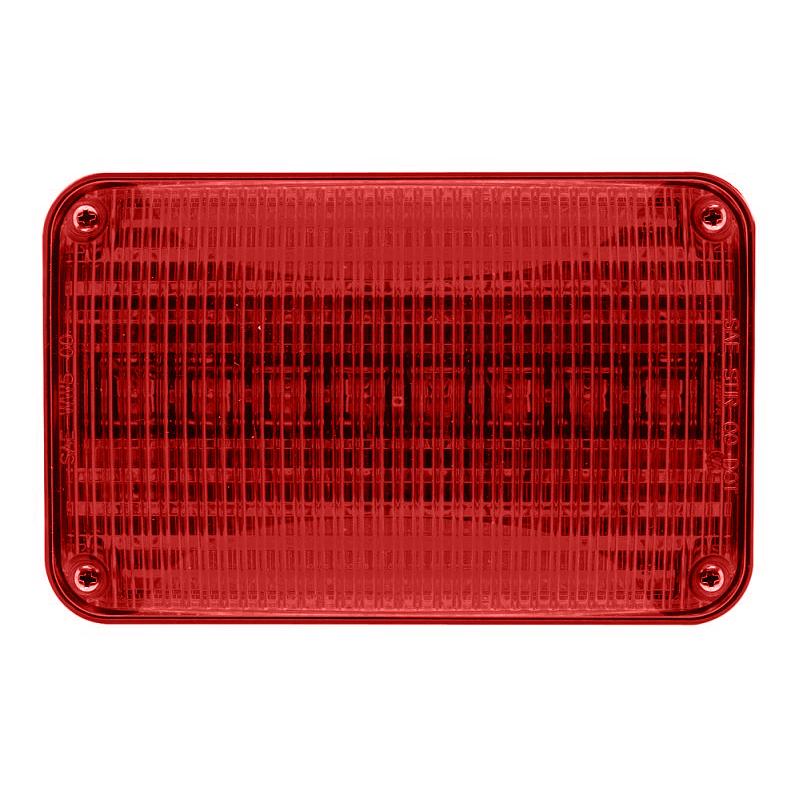 Whelen 600 Series Super LED Lighthead, Red LED/Red Lens