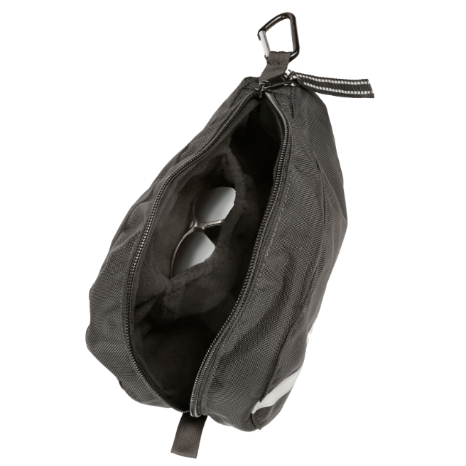 Wolfpack Gear Black SCBA Mask Pouch with Black Fleece Lining